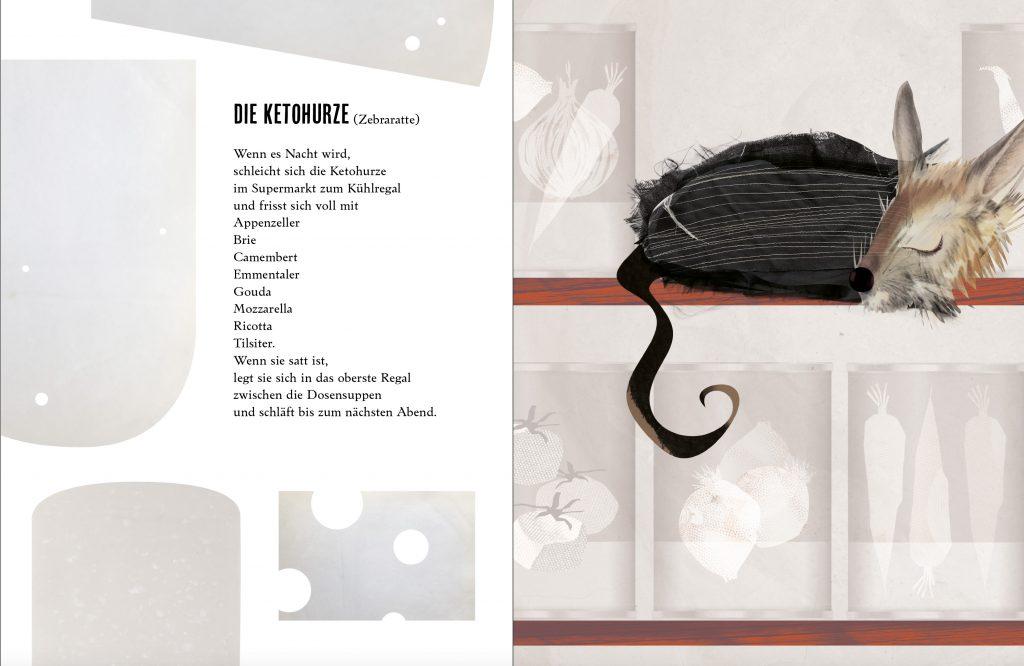 Claudia Honecker, Sabine Pflitsch, Der Ömmerich und andere seltenste Tiere, Einzelbild: Die Ketohurze (Zebraratte), Lektorat, Korrektorat